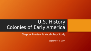 US History Colonies of Early America
