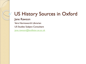 US History Sources - Bodleian Libraries