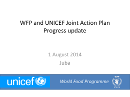 1 August 2014 WFP UNICEF presentation to cluster