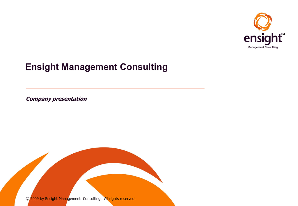 Company presentation Ensight Management Consulting