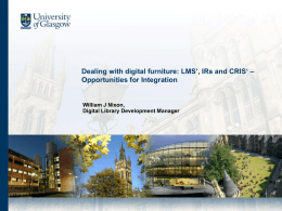 Dealing with digital furniture: LMS', IRs and CRIS'
