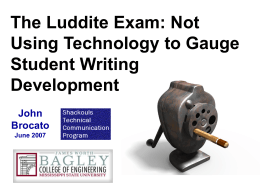 Improving Technical Writing
