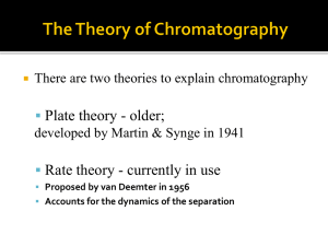 The Theory of Chromatography