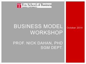 Business models are an analytical tool used to assess the economic