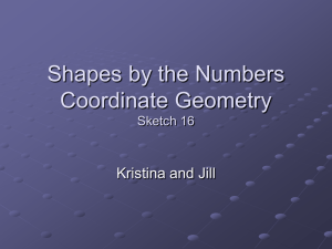 Shapes by the Numbers Coordinate Geometry Sketch 16