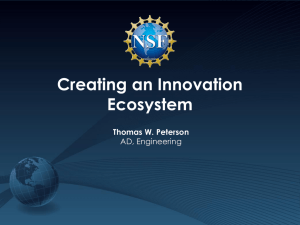 Creating an Innovation Ecosystem