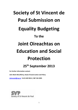 Equality Budgeting is an approach to economic policy