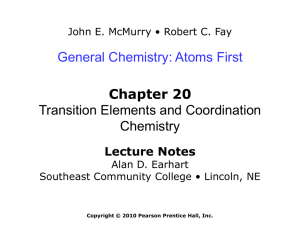 Chemistry: Atoms First, McMurry and Fay, 1st Edition