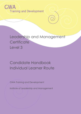 ilm l3 8600 308 understanding leadership The ilm level 4 certificate in leadership and management program is the ilm level 5 leadership and management program 8600-308 understanding leadership.