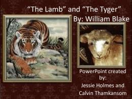 william blake the tyger theme