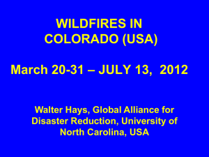 WILDFIRES IN COLORADO (USA)