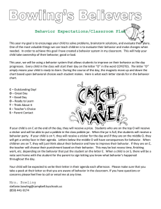 Behavior Expectations - Campbell County Schools