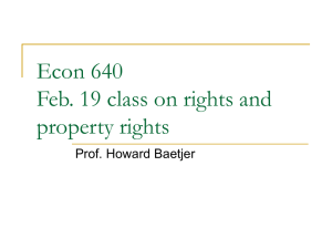 Econ 640 Feb. 19 class on property rights