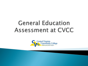 General Education Assessment at CVCC
