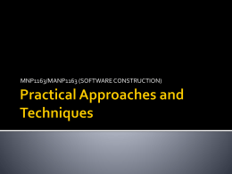 Practical Approaches and Techniques