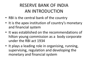 reserve bank of india an introduction