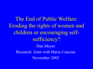 The End of Public Welfare: Eroding the rights of women and children