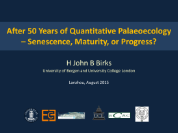 After 50 years of quantitative palaeoecology