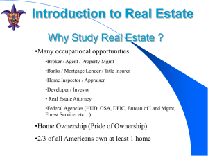Why Study Real Estate ?