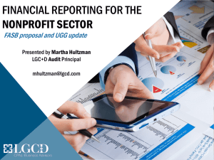 financial reporting for the nonprofit sector