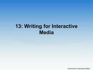 Writing for Interative Media