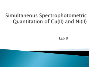 Simultaneous Spectrophotometric Quantitation of Cu(II) and Ni(II)