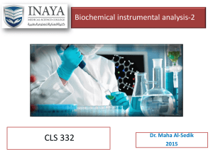 Biochemical instrumental analysis-2