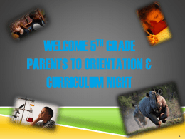 Parent orientation slide show 2014-15