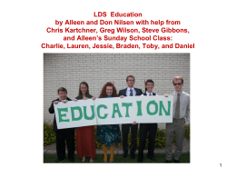 Mormon Education - Arizona State University