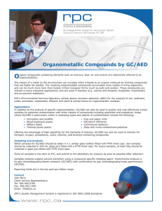 O Organometallic Compounds by GC/AED