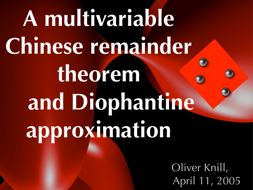 chinese remainder theorem history