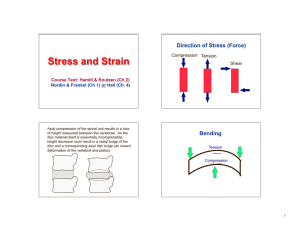 Stress and Strain Direction of Stress (Force)  Bending