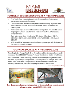 FOOTWEAR BUSINESS BENEFITS AT A FREE TRADE ZONE