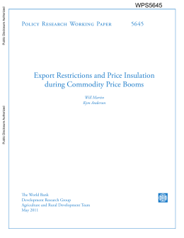 Export Restrictions and Price Insulation during Commodity Price Booms 5645