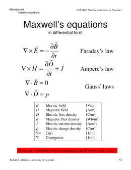 Maxwell's equations B E t