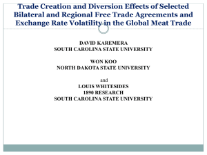 Trade Creation and Diversion Effects of Selected