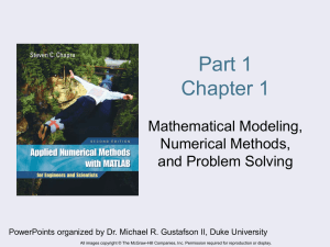 Part 1 Chapter 1 Mathematical Modeling, Numerical Methods,