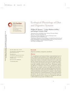 Ecological Physiology of Diet and Digestive Systems Further