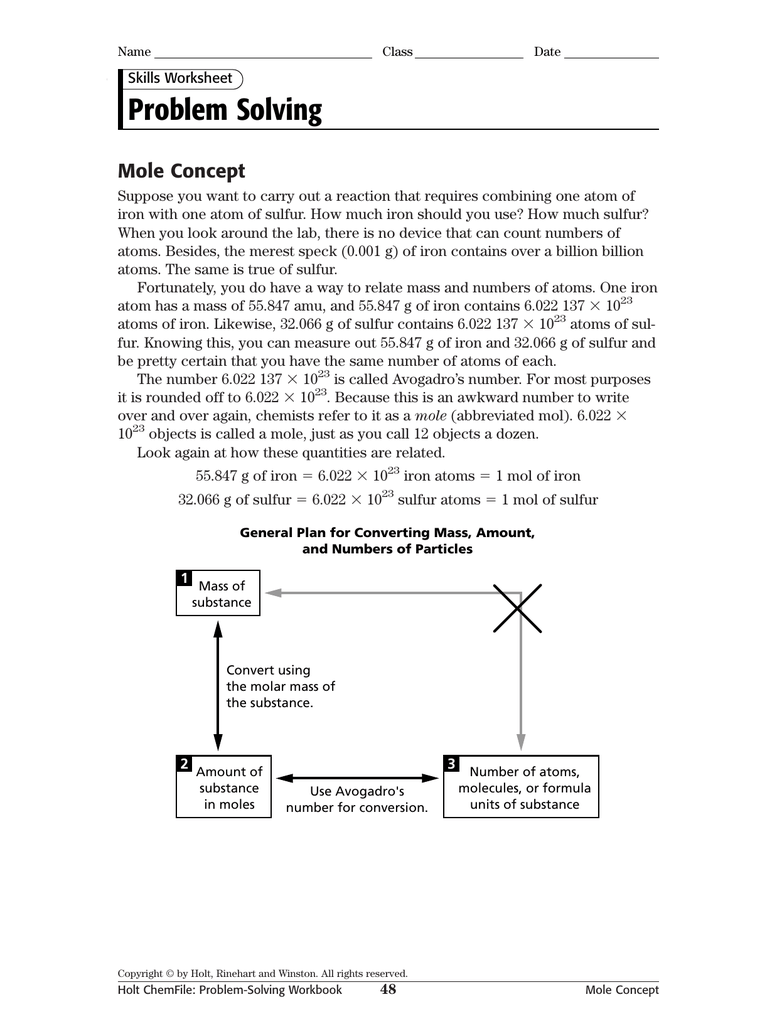 Problem Solving Mole Concept