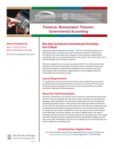 F M T Governmental Accounting