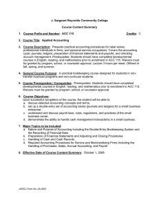 J. Sargeant Reynolds Community College Course Content Summary Credits: