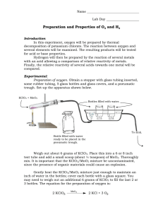 Preparation and Properties of O and H