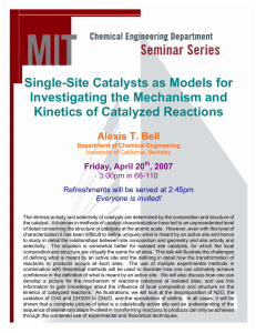 Single-Site Catalysts as Models for Investigating the Mechanism and