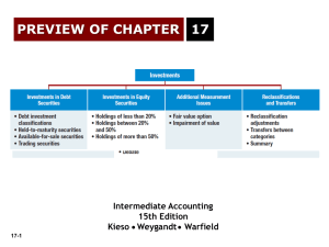 PREVIEW OF CHAPTER 17 Intermediate Accounting 15th Edition