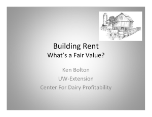 Building Rent  What's a Fair Value? Ken Bolton