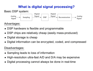 What is digital signal processing?