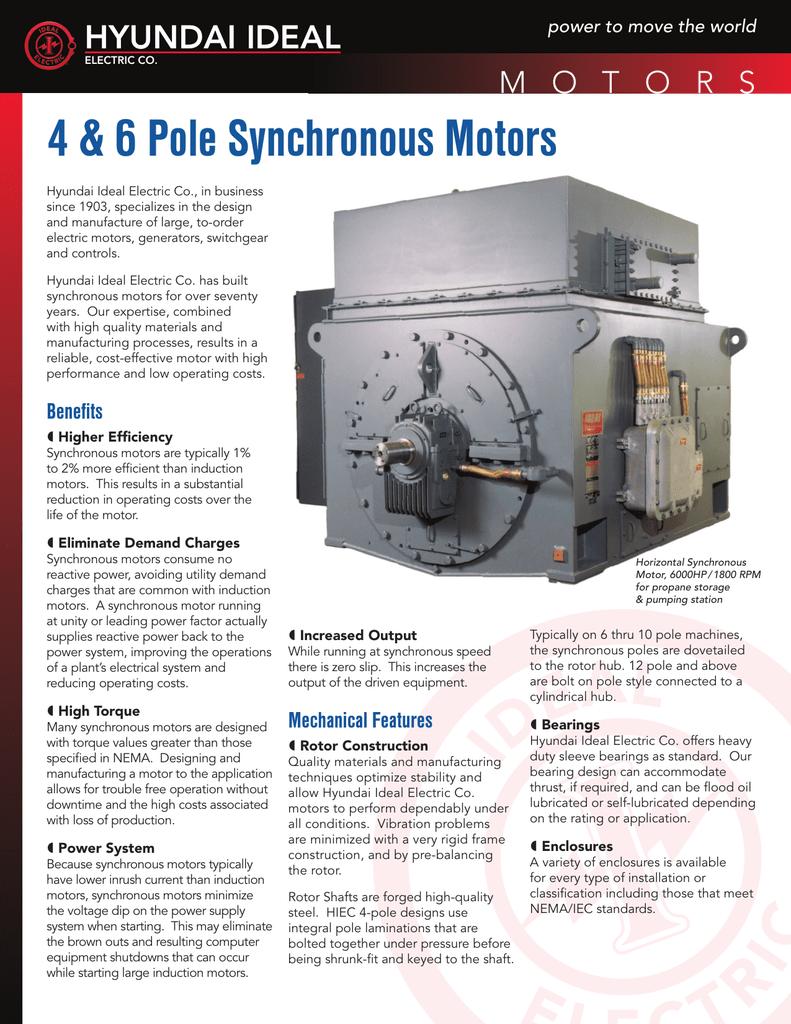 4 & 6 Pole Synchronous Motors HYUNDAI IDEAL
