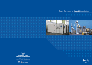 Power Converters for Industrial Power Supply System Power Electronics & Automation