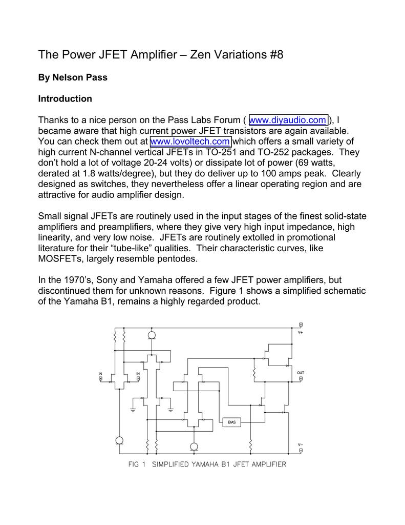 The Power JFET Amplifier – Zen Variations #8