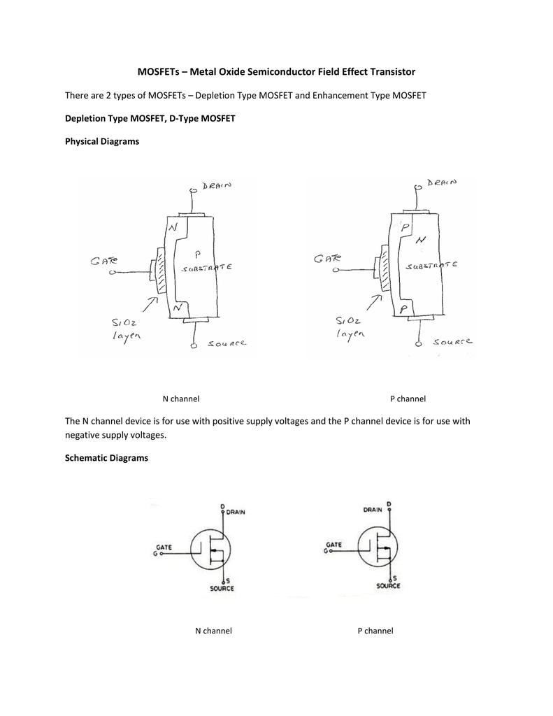 Mosfets Metal Oxide Semiconductor Field Effect Transistor